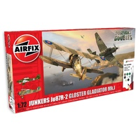 Junkers JU87R-2 Gloster Gladiator Dog Fight Double Gift Set 1:72 A50179