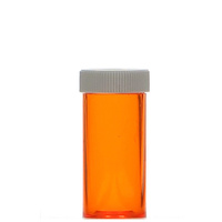 Orange 6oz Vial Plastic